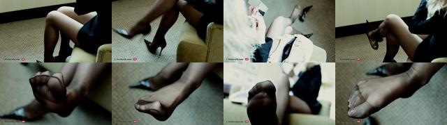 Feet in pantyhose