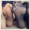 Blondes' pantyhose soles POV